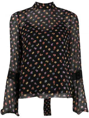 Кружевная блузка - черная See By Chloé