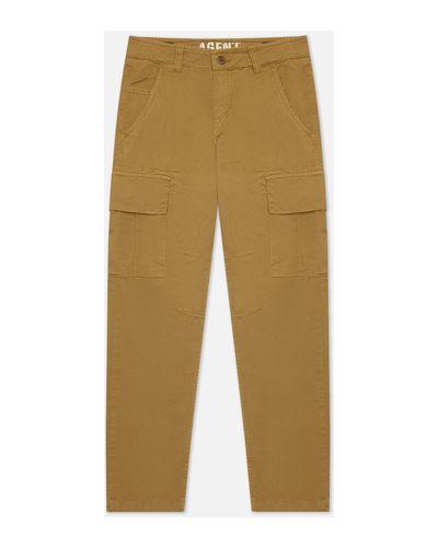 Хлопковые бежевые брюки Alpha Industries