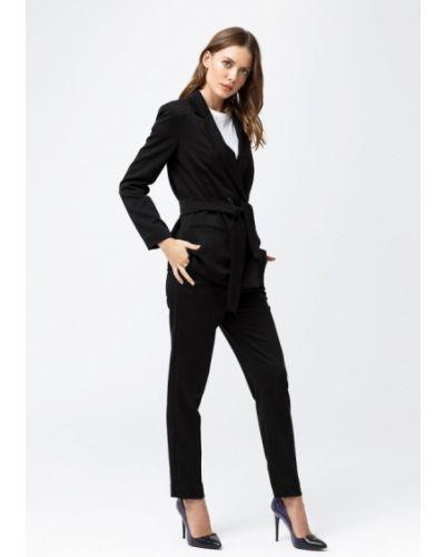Облегающий черный брючный костюм Oks By Oksana Demchenko