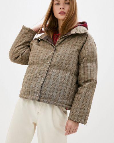 Бежевая утепленная куртка On Parle De Vous