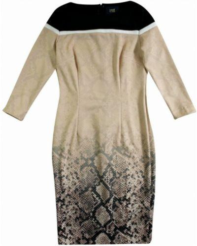 Beżowa sukienka Roberto Cavalli