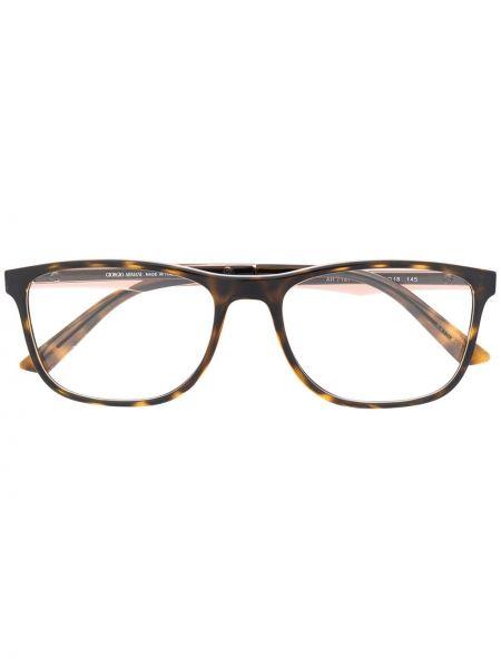 Brązowy oprawka do okularów plac za pełne wytłoczony Giorgio Armani