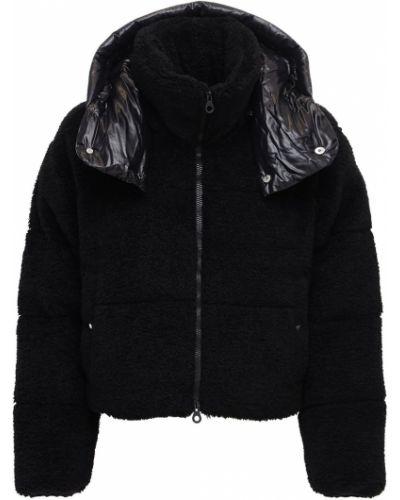 Нейлоновая черная куртка с капюшоном на молнии с воротником Duvetica