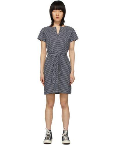 Платье с поясом в полоску с отложным воротником A.p.c.