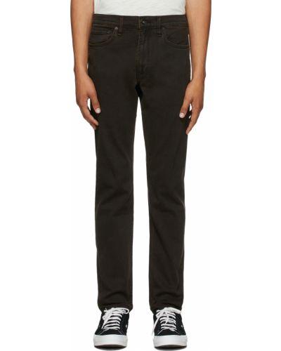 Mom jeans z haftem - białe Rag & Bone