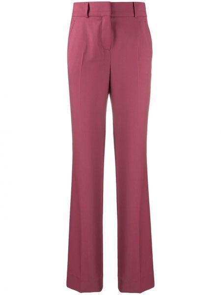Шерстяные розовые брюки с карманами Incotex