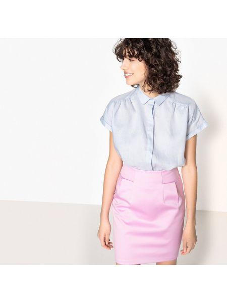 Рубашка с коротким рукавом льняная La Redoute Collections