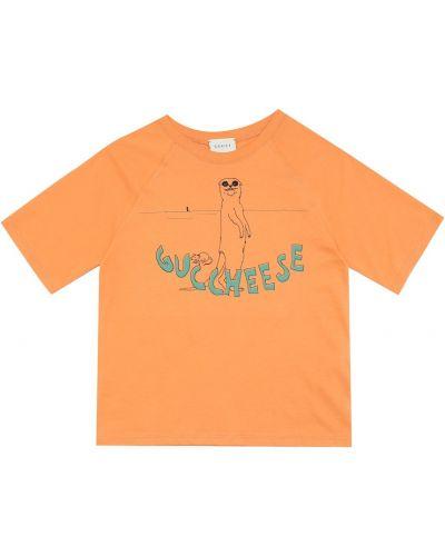 Bawełna bawełna pomarańczowy koszula Gucci Kids