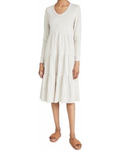 Трикотажное платье макси с длинными рукавами с декольте Wilt