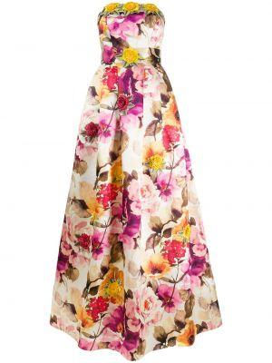 Вечернее платье с цветочным принтом на молнии Philipp Plein