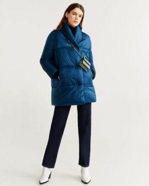 Длинное пальто с воротником пальто Mango