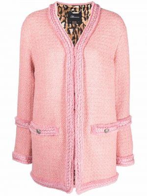 Розовый пиджак твидовый Blumarine