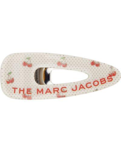 Белая заколка в горошек Marc Jacobs