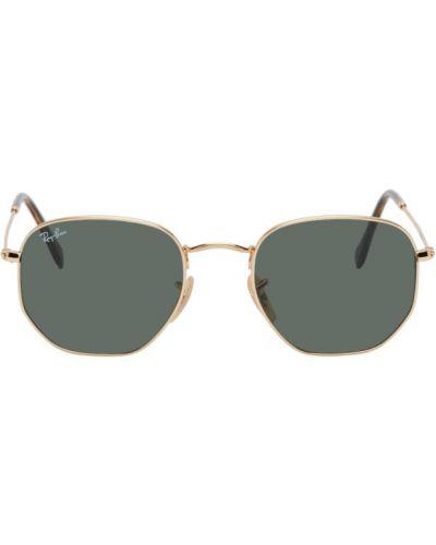 Klasyczne złote różowe okulary Ray-ban