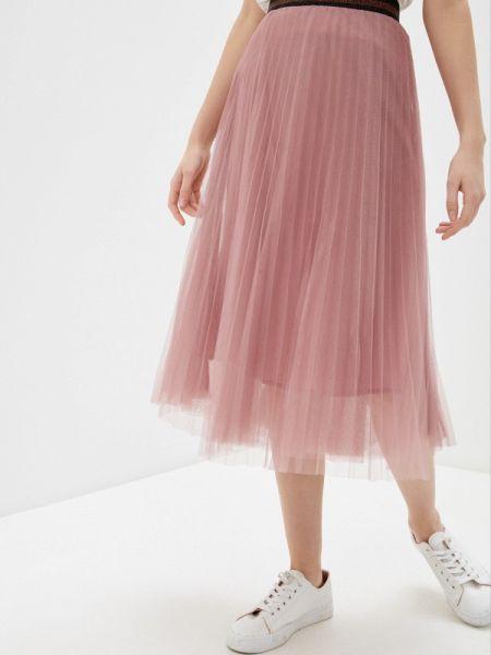 Плиссированная юбка розовая весенняя Savage