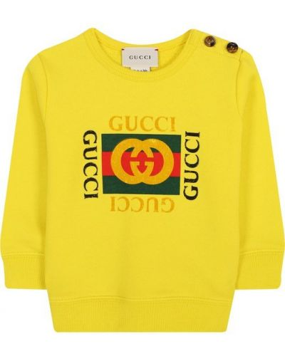 Желтый свитшот на пуговицах Gucci