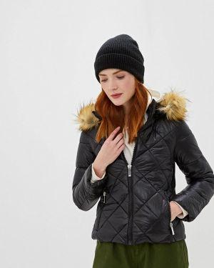 Утепленная куртка демисезонная черная Sh