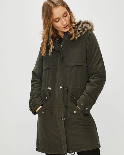 Утепленная куртка с капюшоном прямая Only