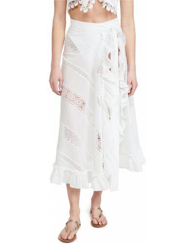 Spódnica kopertowa koronkowa bawełniana Waimari