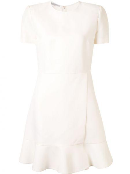 Платье мини с запахом с вырезом с короткими рукавами круглое Stella Mccartney