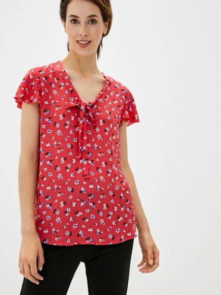 Красная блузка с коротким рукавом с короткими рукавами Defacto