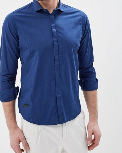 Синяя с рукавами рубашка Hopenlife