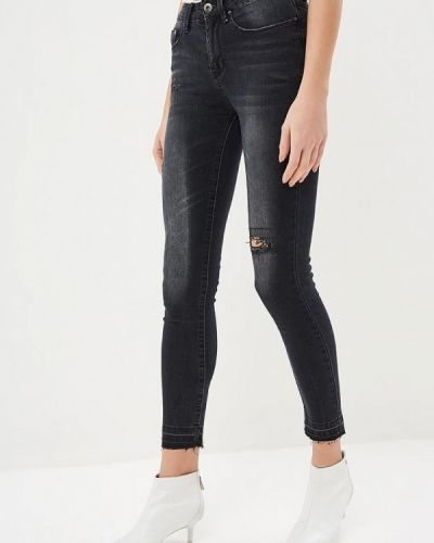 Серые джинсы-скинни Modis