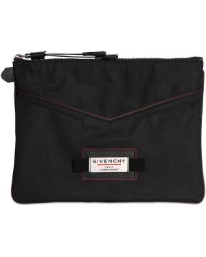 Клатч кожаный с заплатками Givenchy