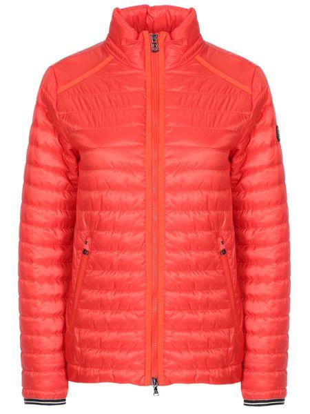 Теплая красная утепленная куртка на молнии с воротником Bogner