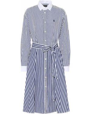 Платье в полоску из поплина Polo Ralph Lauren