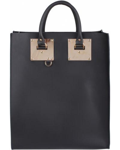 Кожаная сумка черная мятная Sophie Hulme