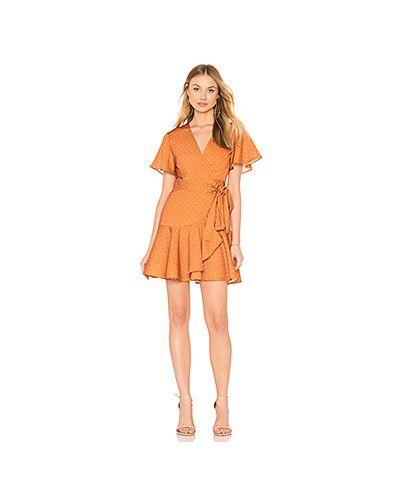 Платье с запахом с оборками Finders Keepers