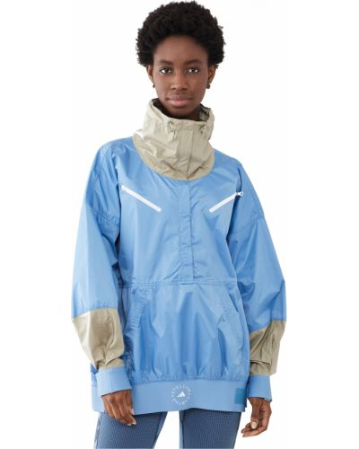 Синяя куртка на резинке с манжетами Adidas By Stella Mccartney