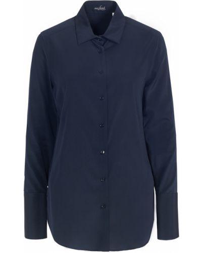 С рукавами синяя блузка свободного кроя Van Laack