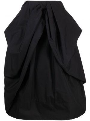 С завышенной талией расклешенная черная юбка миди Simone Rocha