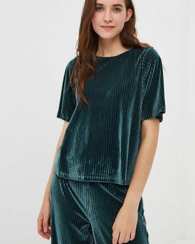 Зеленая блузка с коротким рукавом Compania Fantastica