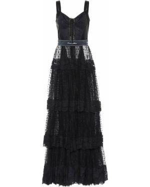 Платье из фатина с жемчугом Dolce & Gabbana