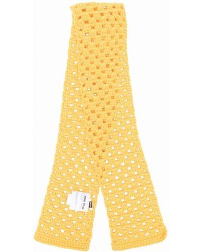 Żółty szalik wełniany Miu Miu
