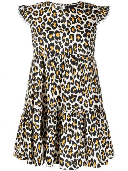 С рукавами платье с вышивкой с вырезом Marc Jacobs