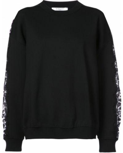 Koronkowa z rękawami czarny bluza Givenchy