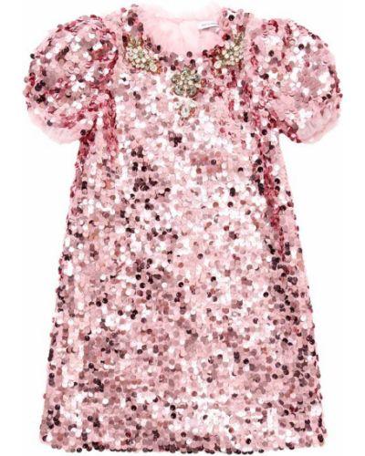 Платье с рукавами с пайетками с подкладкой Dolce & Gabbana