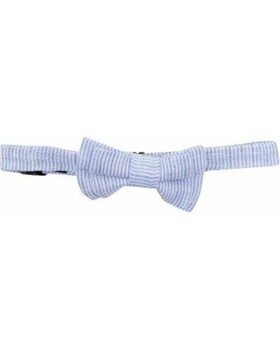 Синий галстук-бабочка с бабочкой в полоску Harmont & Blaine Junior
