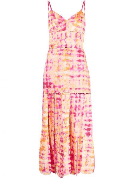 Розовое платье длинное Alexis