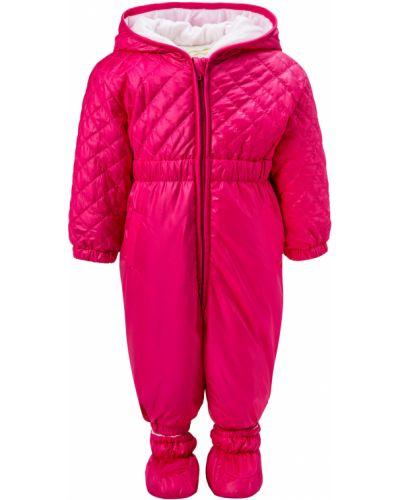 Утепленный розовый комбинезон Aletta