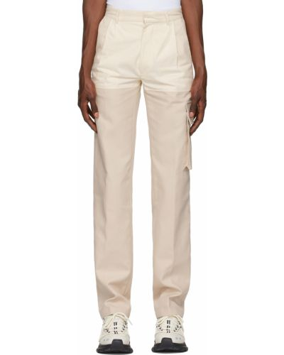 Białe spodnie bawełniane Botter