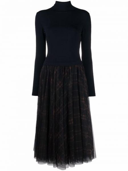 Платье миди из фатина - синее Sara Roka