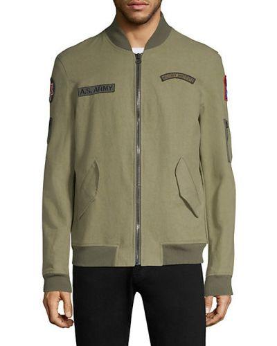 Zielona długa kurtka bawełniana z długimi rękawami As65