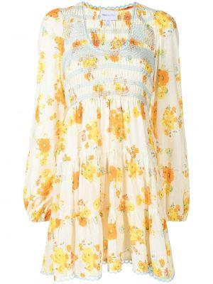 Хлопковое платье миди - желтое Alice Mccall