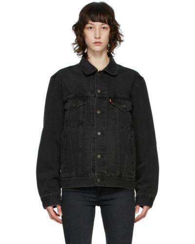 Черная джинсовая куртка винтажная с воротником Levi's®