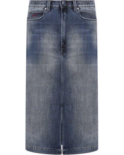 Джинсовая юбка синяя Jacob Cohen